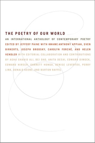 Poetry of Our World An International Anthology of Contemporary Poetry  2001 edition cover