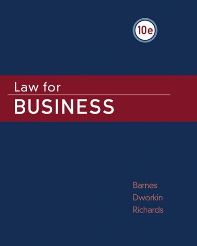 Law for Business  10th 2009 edition cover