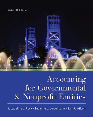 Accounting for Governmental and Nonprofit Entities  16th 2013 edition cover