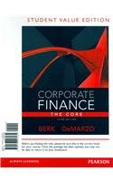 Corporate Finance The Core, Student Value Edition 3rd 2014 edition cover