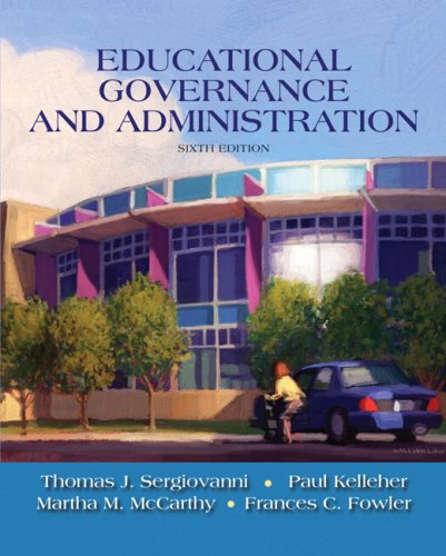 Educational Governance and Administration  6th 2009 edition cover