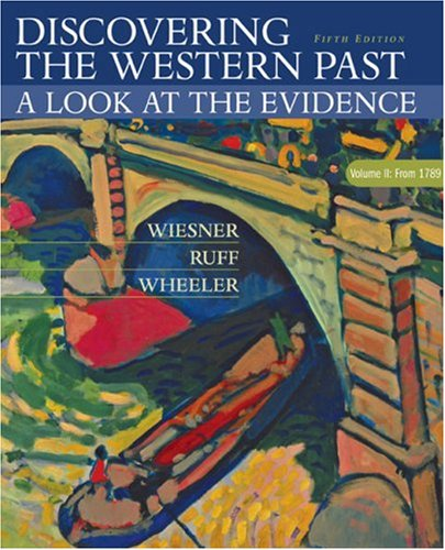 Discovering the Western Past A Look at the Evidence since 1500 5th 2004 edition cover