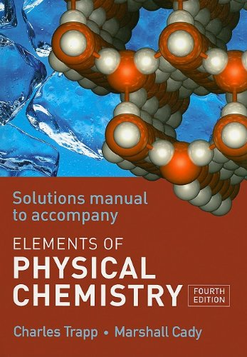 Elements of Physical Chemistry Solutions Manual  4th 2007 edition cover