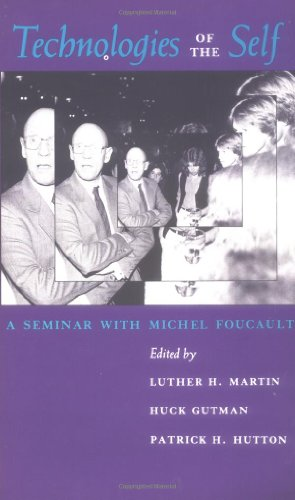 Technologies of the Self A Seminar with Michel Foucault  1988 edition cover