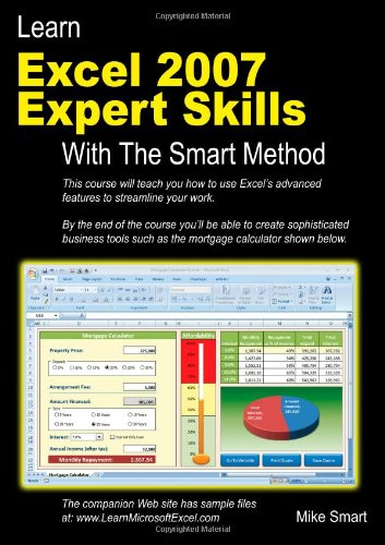 Learn Excel 2007 Expert Skills with the Smart Method   2009 edition cover