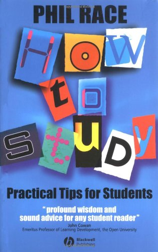How to Study Practical Tips for Students 2nd 2003 9781405106931 Front Cover