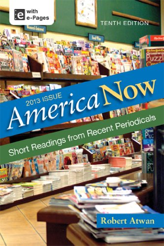 America Now Short Readings from Recent Periodicals 10th 2013 edition cover