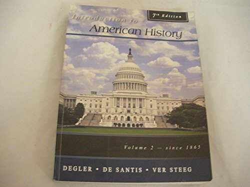 Introduction to American History, Volume 2  7th edition cover