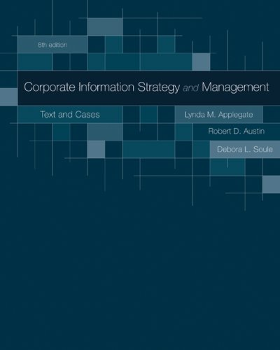 Corporate Information Strategy and Management Text and Cases 8th 2009 9780073402932 Front Cover