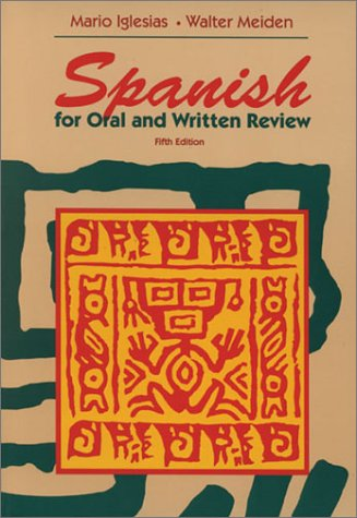 Spanish for Oral and Written Review  5th 1995 (Revised) edition cover