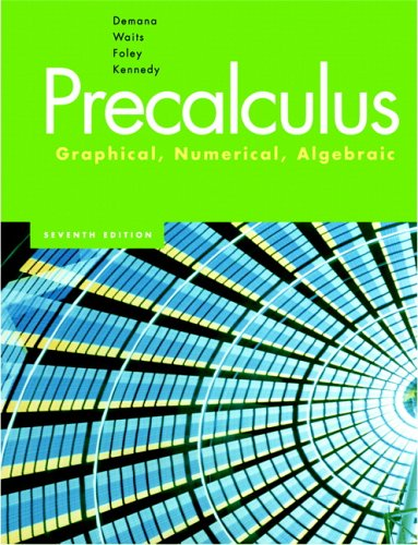 Precalculus Graphical, Numerical, Algebraic 7th 2007 (Revised) edition cover