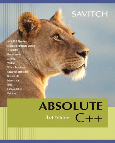 Absolute C++  3rd 2008 edition cover