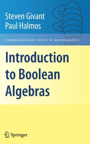 Introduction to Boolean Algebras   2009 edition cover