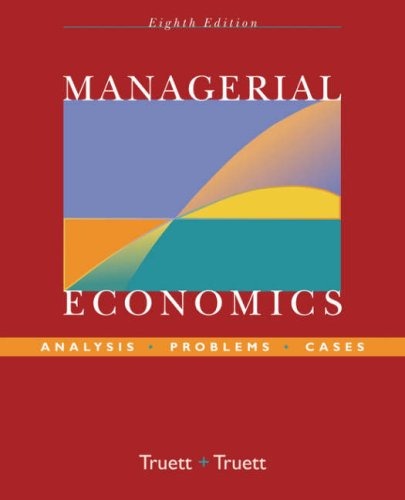 Managerial Economics Analysis, Problems, Cases 8th 2006 (Revised) edition cover