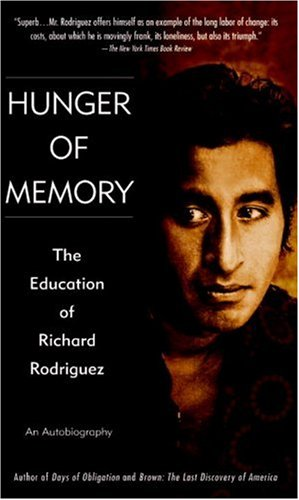Hunger of Memory The Education of Richard Rodriguez  1983 edition cover