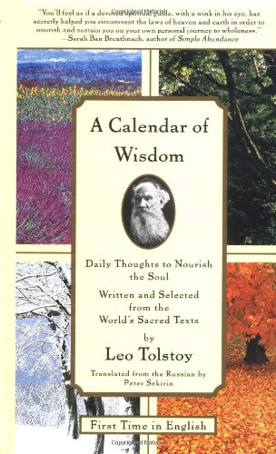 Calendar of Wisdom Daily Thoughts to Nourish the Soul, Written and Selected from the World's Sacred Texts  1997 edition cover
