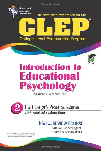 CLEP� Introduction to Educational Psychology  N/A 9780738600932 Front Cover