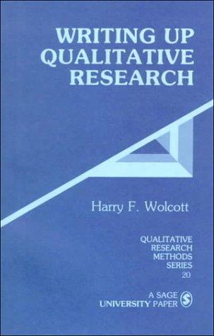 Writing up Qualitative Research   1990 edition cover