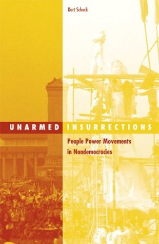 Unarmed Insurrections People Power Movements in Nondemocracies  2004 edition cover