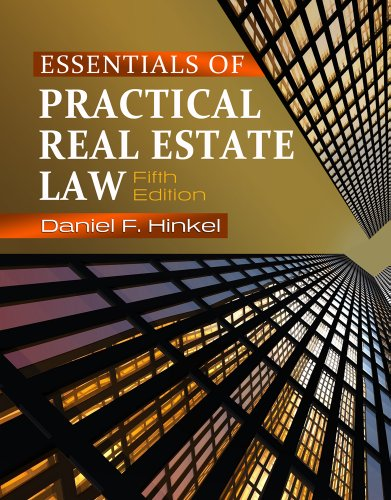 Essentials of Practical Real Estate Law  5th 2012 edition cover