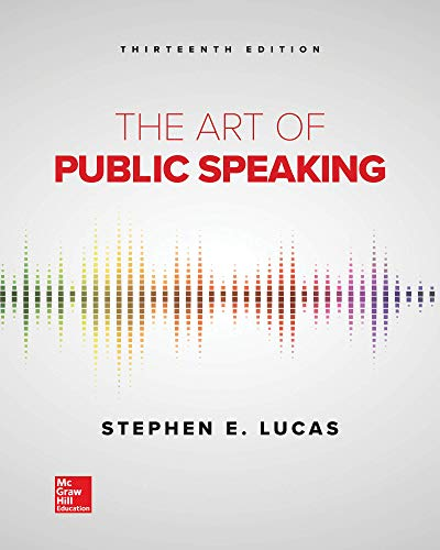 Cover art for The Art of Public Speaking, 13th Edition