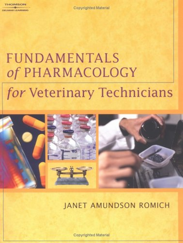 Fundamentals of Pharmacology for Veterinary Technicians   2005 edition cover