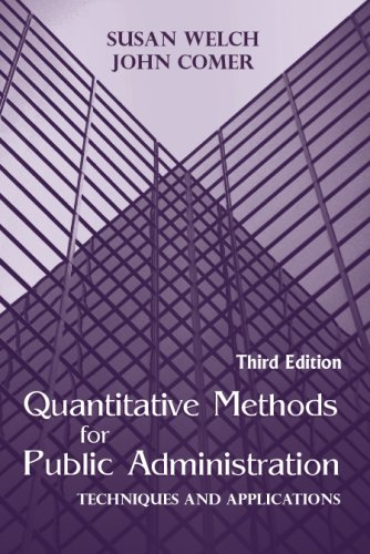 Quantitative Methods for Public Administration Techniques and Applications 3rd 2001 edition cover
