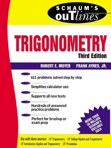 Schaum's Outline of Trigonometry  3rd 1999 edition cover