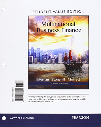 Multinational Business Finance: Student Value Edition  2015 9780133879933 Front Cover