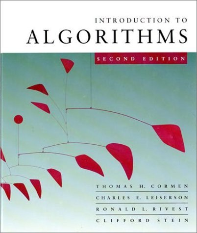 Introduction to Algorithms  2nd 2001 9780262032933 Front Cover