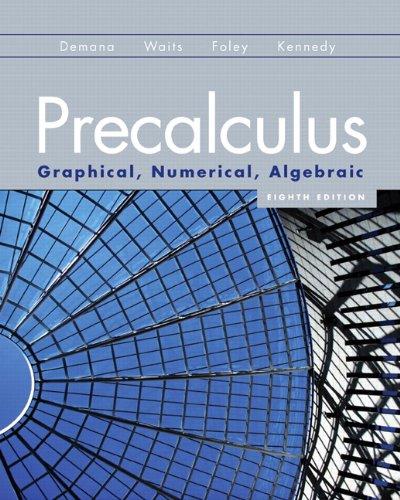Precalculus Graphical, Numerical, Algebraic 8th 2011 edition cover