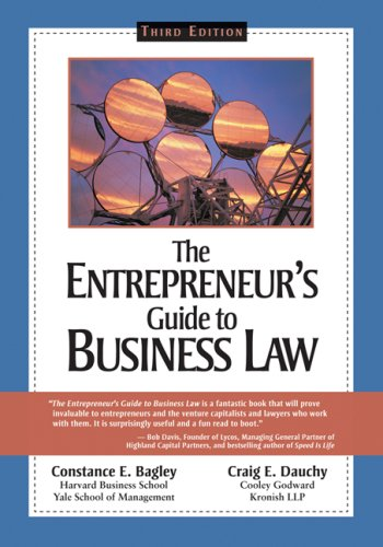 Entrepreneur's Guide to Business Law  3rd 2008 (Revised) edition cover
