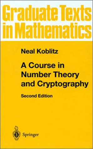 Course in Number Theory and Cryptography  2nd 1994 (Revised) edition cover