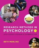 Research Methods in Psychology: Evaluating a World of Information 2nd 2014 edition cover