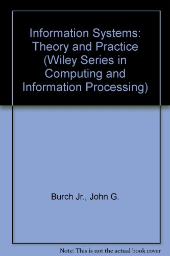 Information Systems Theory and Practice 5th 1989 9780471612933 Front Cover