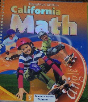 Mathmatics California, Level 5: Teacher's Edition  2009 9780618826933 Front Cover