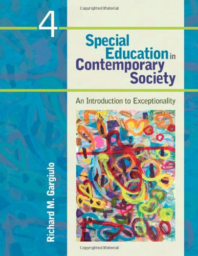 Special Education in Contemporary Society An Introduction to Exceptionality 4th 2012 edition cover