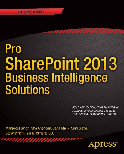 Pro Sharepoint 2013 Business Intelligence Solutions:   2013 edition cover