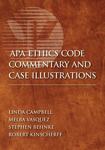 APA Ethics Code Commentary and Case Illustrations   2010 edition cover