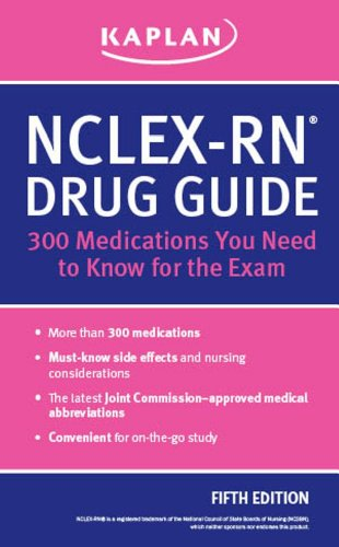 NCLEX-RN Drug Guide 300 Medications You Need to Know for the Exam 5th edition cover