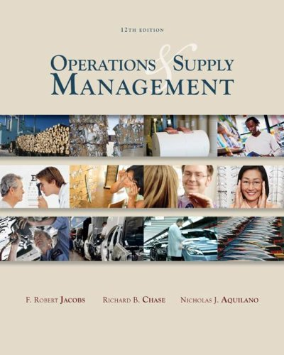 Operations and Supply Management wStudent DVD Rom  12th 2009 edition cover