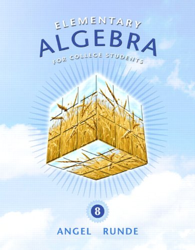 Elementary Algebra for College Students  8th 2011 edition cover