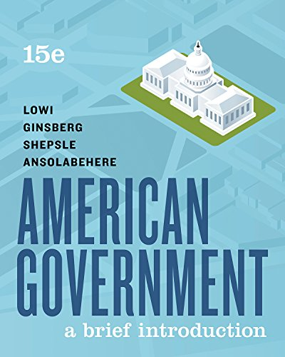 AMERICAN GOVERNMENT-BRIEF               N/A 9780393674934 Front Cover