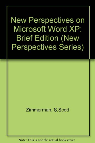 New Perspectives on Microsoft Word 2002   2002 (Brief Edition) 9780619020934 Front Cover