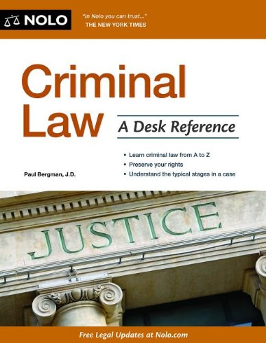 Criminal Law A Desk Reference 2nd edition cover
