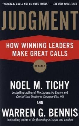 Judgment How Winning Leaders Make Great Calls  2009 edition cover