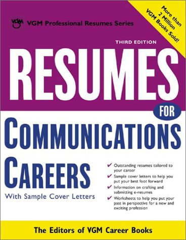 Resumes for Communications Careers  3rd 2003 (Revised) 9780071405935 Front Cover