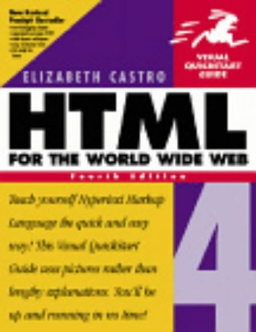 HTML 4 for the World Wide Web  4th 2000 edition cover