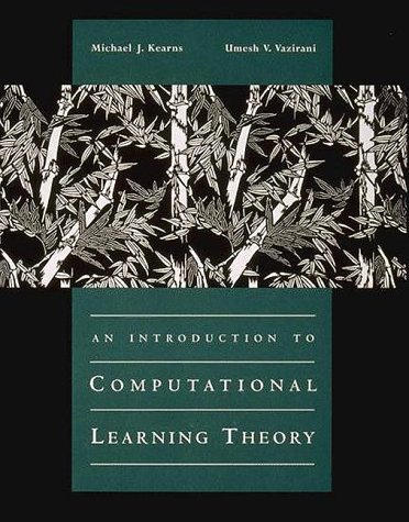 Introduction to Computational Learning Theory   1994 edition cover