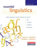 Essential Linguistics, Second Edition What Teachers Need to Know to Teach ESL, Reading, Spelling, and Grammar  2014 edition cover